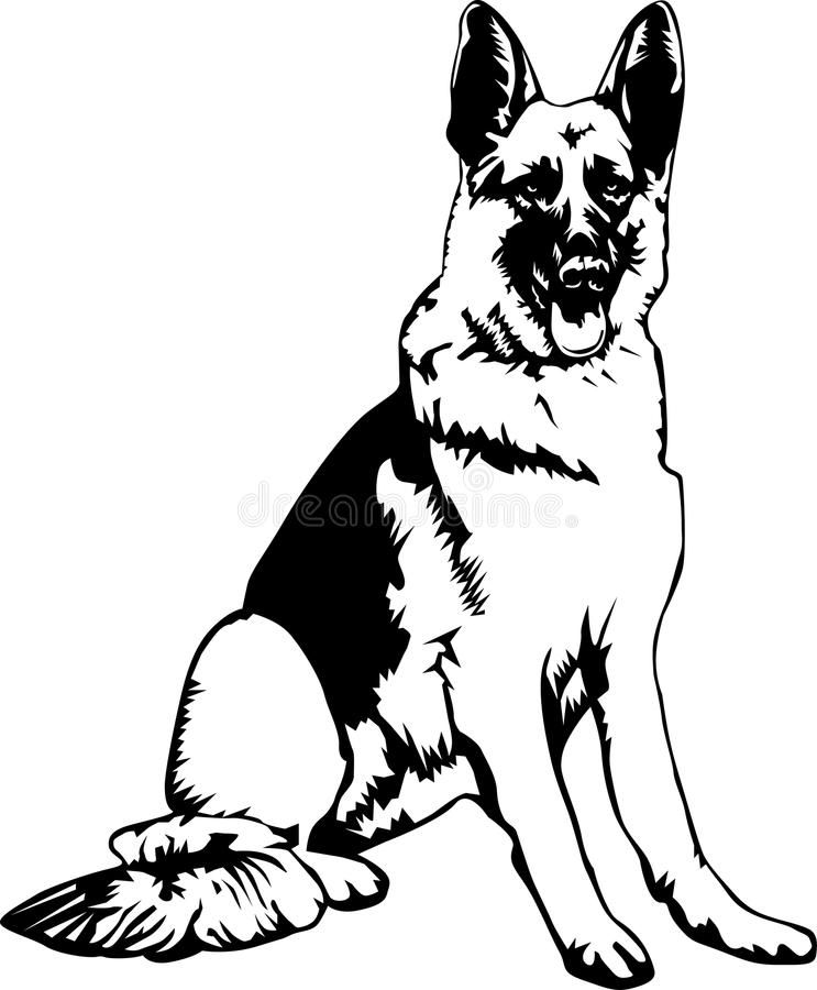 German Shepherd Black And White Portrait Of A German Shepherd Dog Sponsored Sponsored Ad Shepherd Whi German Shepherd Art Dog Drawing Dog Silhouette