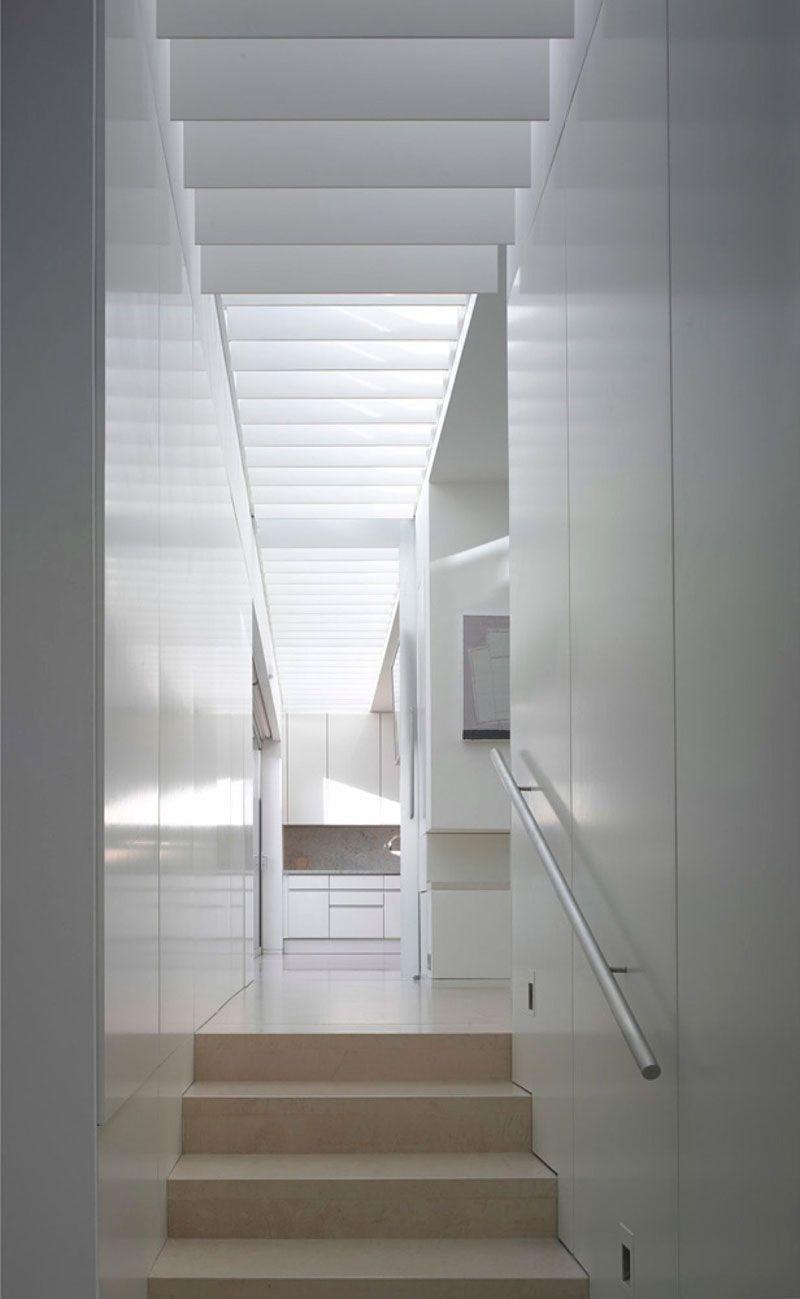 Corridor Roof Design: Architecture, Corridor With White Interior Design And