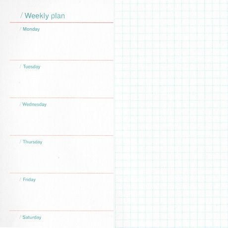 Undated Agenda Planner in Week + Notes format Planners - format for an agenda
