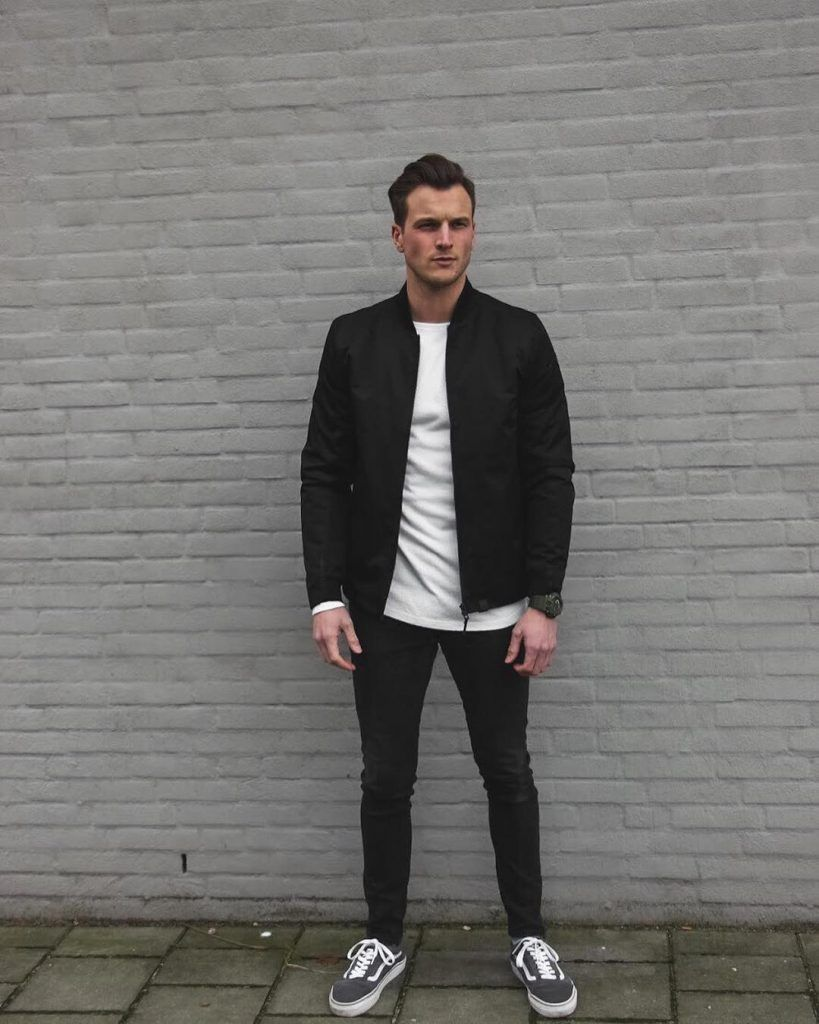 50 Street Styles For Men To Draw Inspiration From Images Mens Bomber Jacket Outfit Black Bomber Jacket Outfit Black Bomber Jacket Outfit Men [ 1024 x 819 Pixel ]