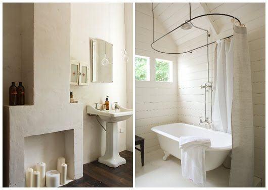 I Like This Idea Of Adding A Faux Fireplace To A Large Bathroom In An Old