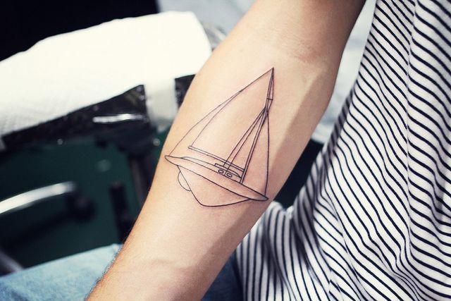 sailor tattoo!  joakim gets a tattoo-day. by Sandra Beijer, via Flickr