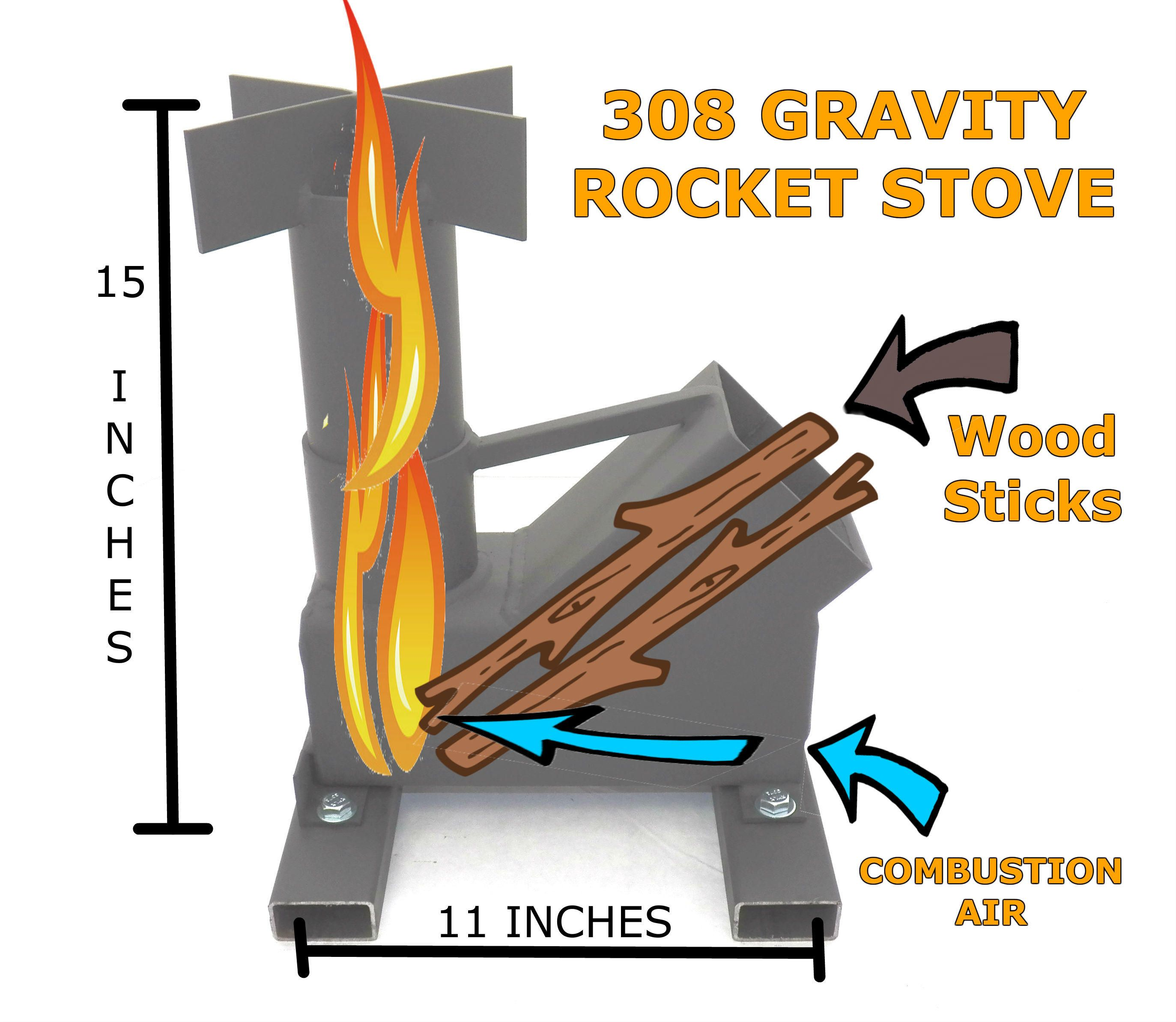 Bullet Proof 308 Gravity Feed Rocket Stove Rocket Stoves Welding Projects Rocket Stove Design