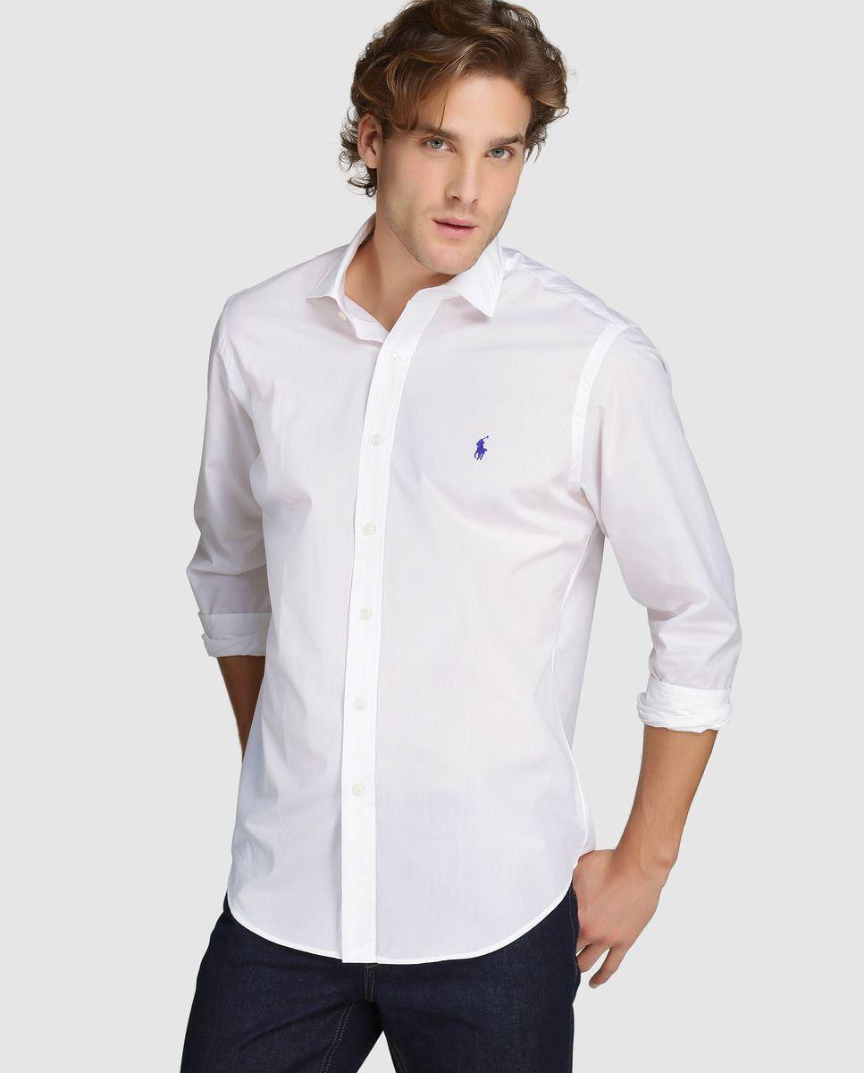 Camisa de hombre Polo Ralph Lauren regular lisa blanca · Polo Ralph Lauren  · Moda · El Corte Inglés 4e8294adf6acc