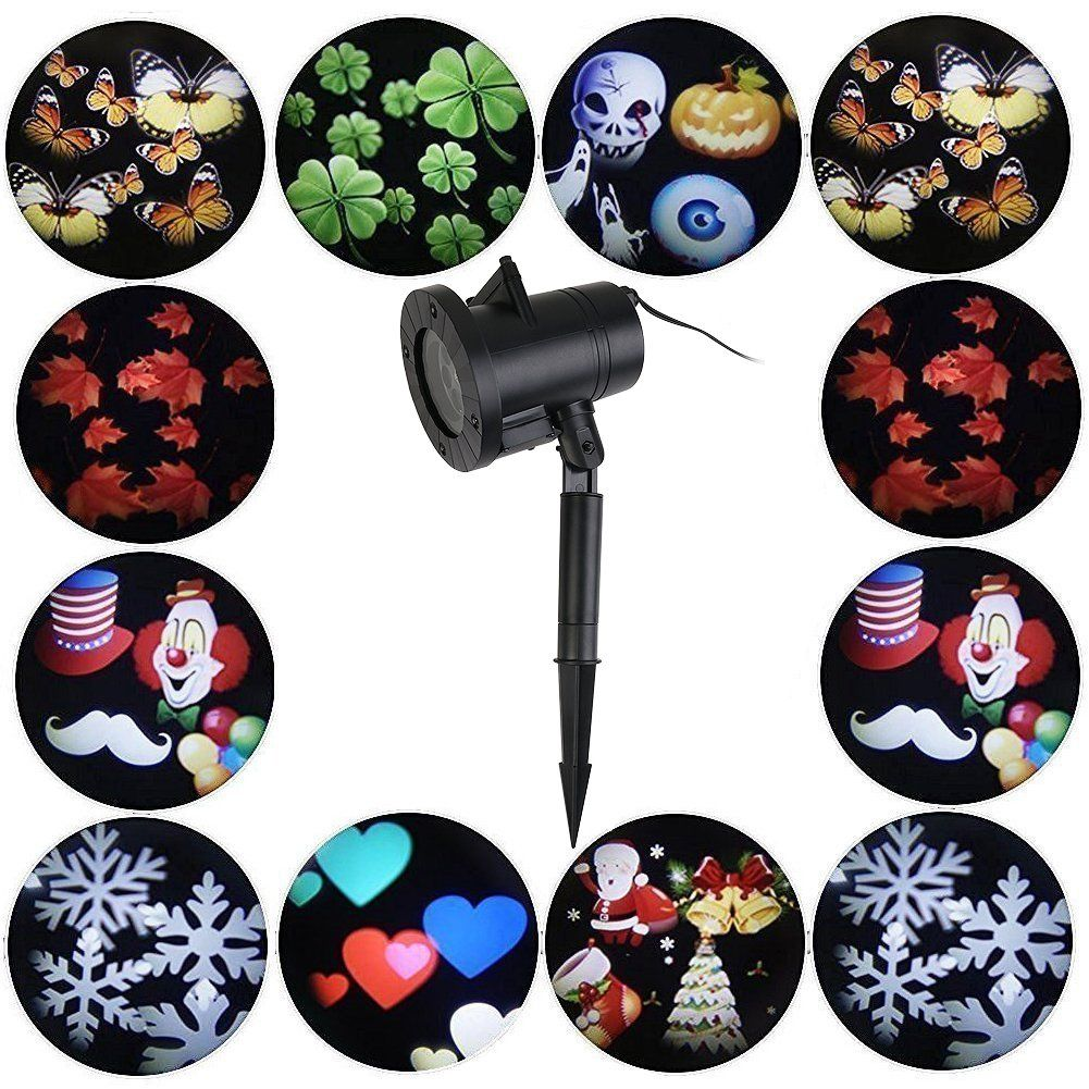 christmas projector lights-12 pattern waterproof outdoor projection