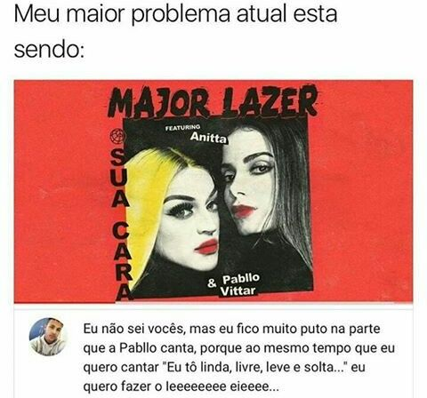 Pin De Emmanuelly Martins Em Tao Eu Major Lazer Anitta E