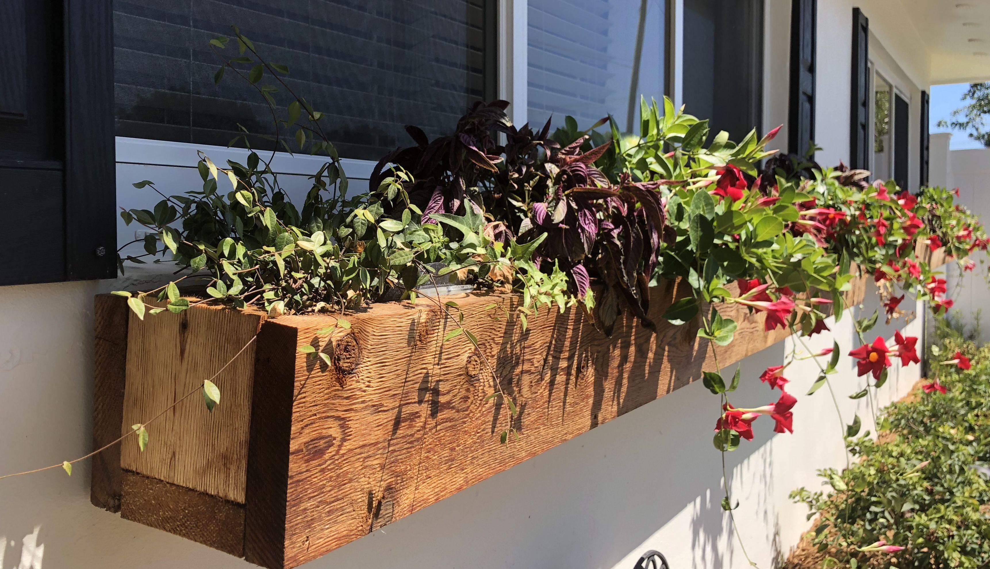 Rustic Cedar Window Boxes Etsy Cedar Window Boxes Garden Yard Ideas Window Boxes