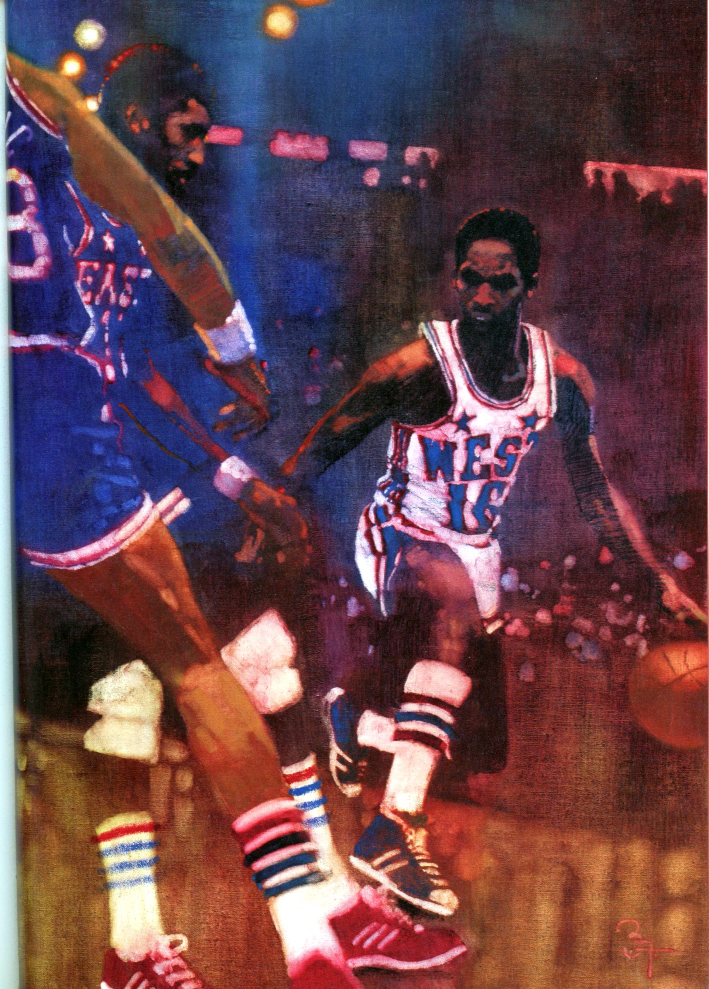 "Nate ""Tiny"" Archibald Painting by Bernie Fuchs"