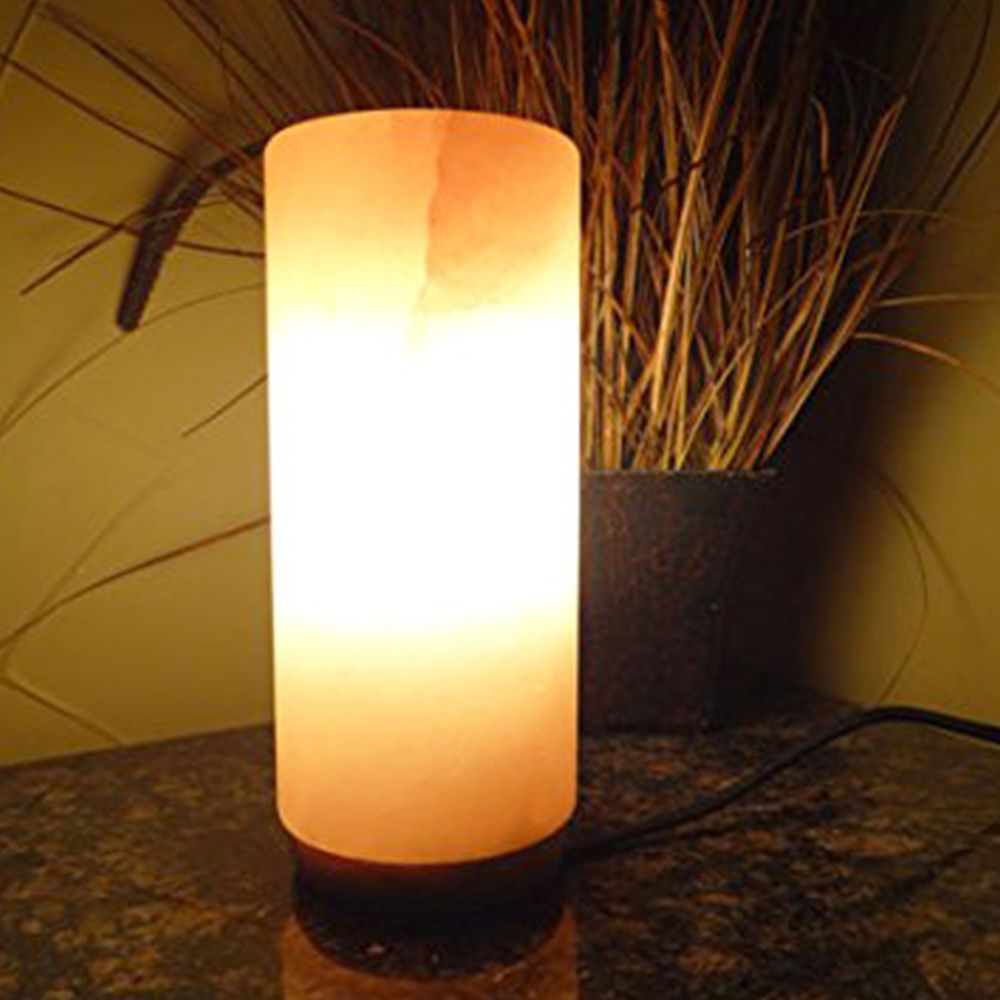 Salt Lamps Negative Energy : Details about Himalayan Natural Rock Cylinder Shape Salt Lamp Hand Carved Ionizer Air Purify ...