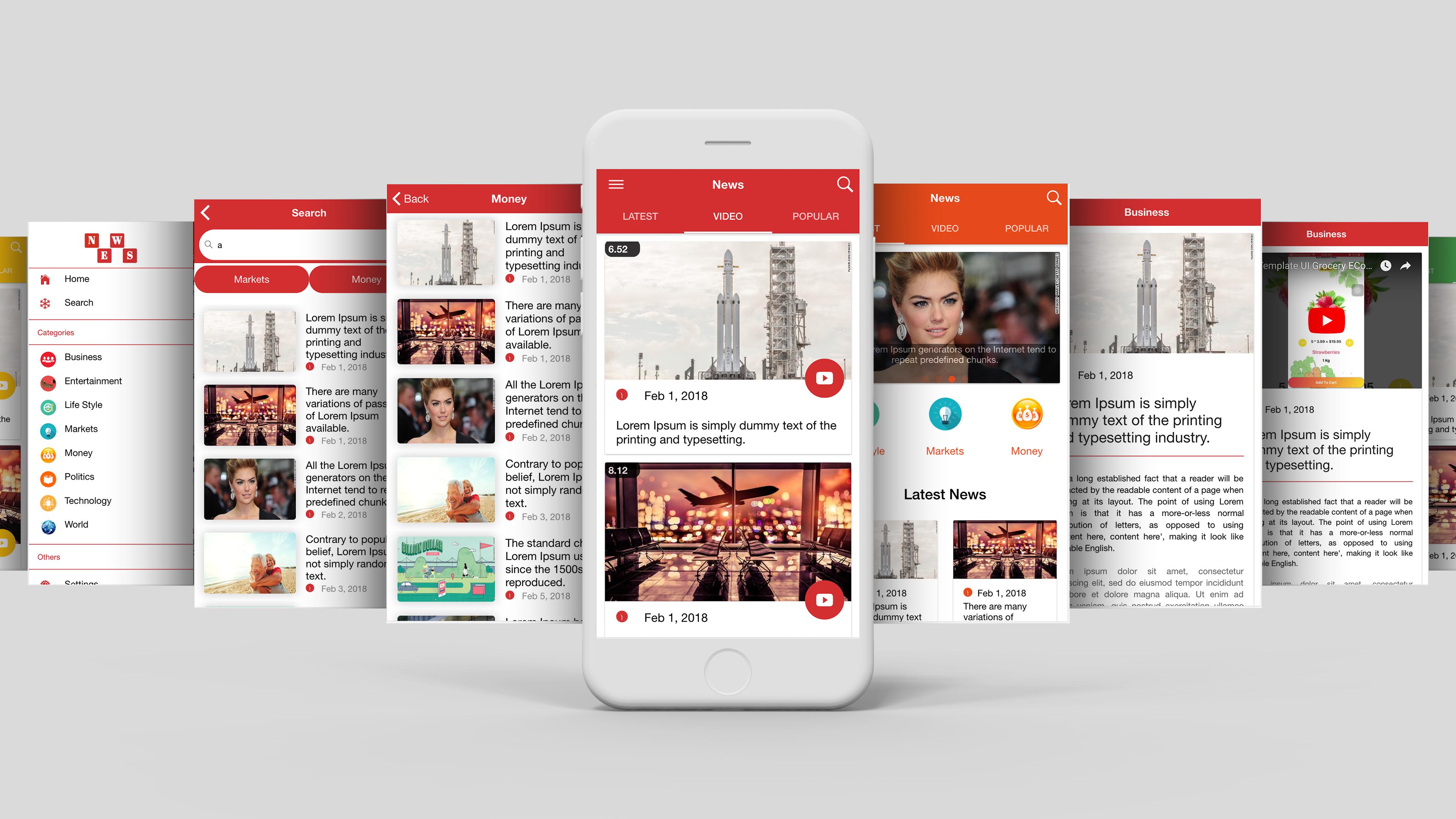 Multipurpose News App Template UI Ionic 3 | Scripts, Plugins and