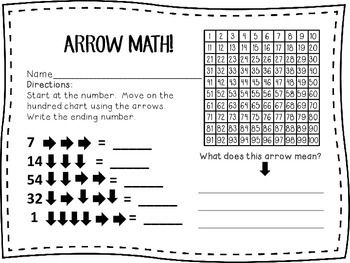 Arrow Math-Addition and Subtraction on a Hundred Chart 1st