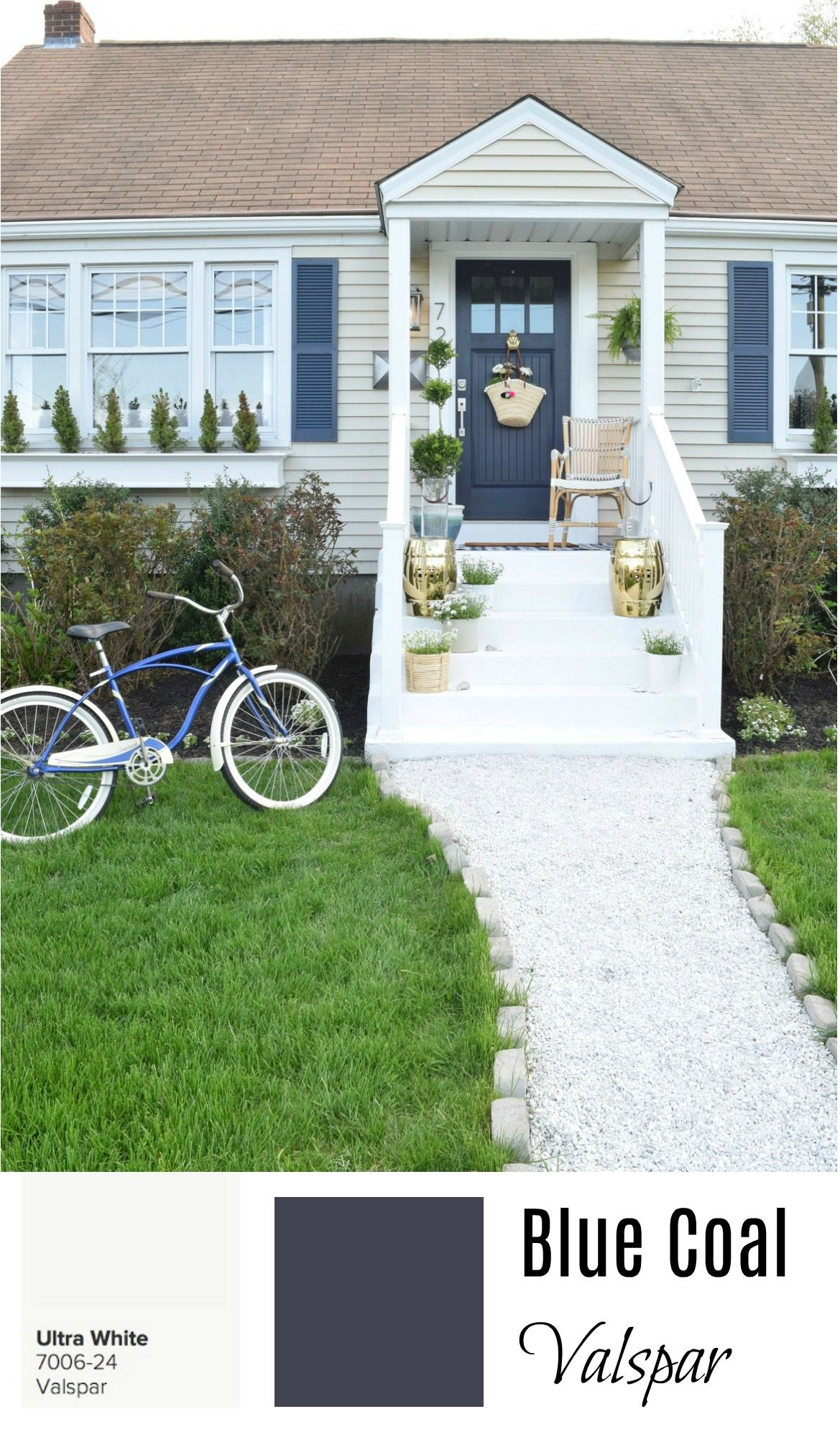 Valspar Blue Coal And Ultra White Exterior Paint Colors