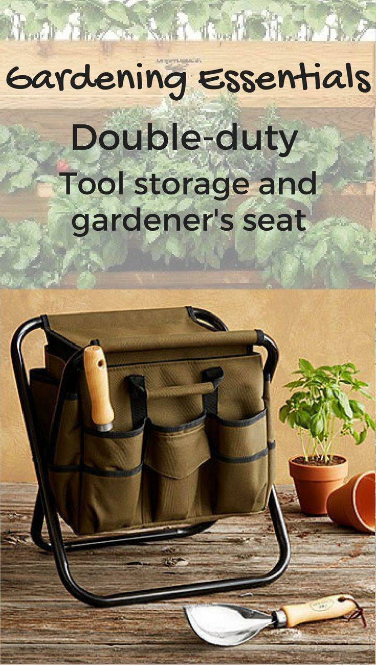 Gardener\'s would love this combo tool caddy and seat #gardening ...