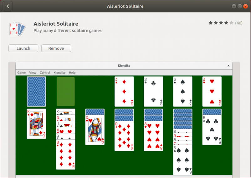Want A Version Of Klondike Solitaire For Your Linux System That You Can Play Offline Here S How To Find And Install It And G Linux Solitaire Playing Solitaire