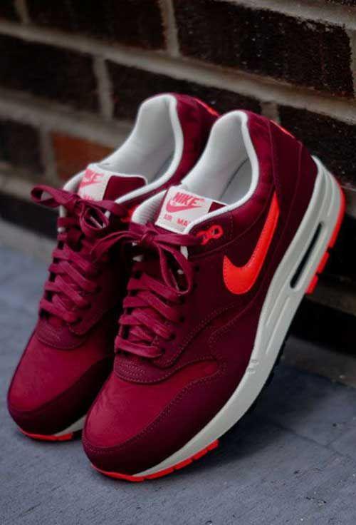 Nike Bayan Bordo Spor Ayakkabı Resimleri | Koşu ayakkabıları