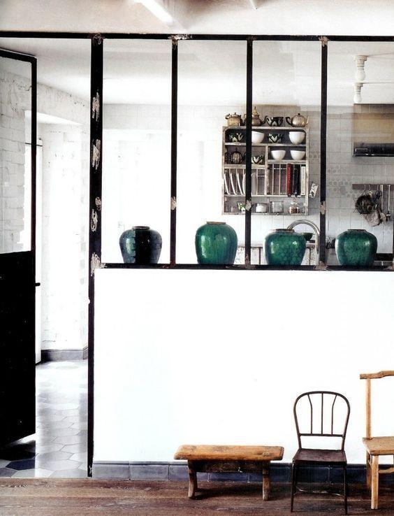 les cloisons vitr es dans l 39 esprit verri re d 39 atelier d 39 artiste projets essayer pinterest. Black Bedroom Furniture Sets. Home Design Ideas