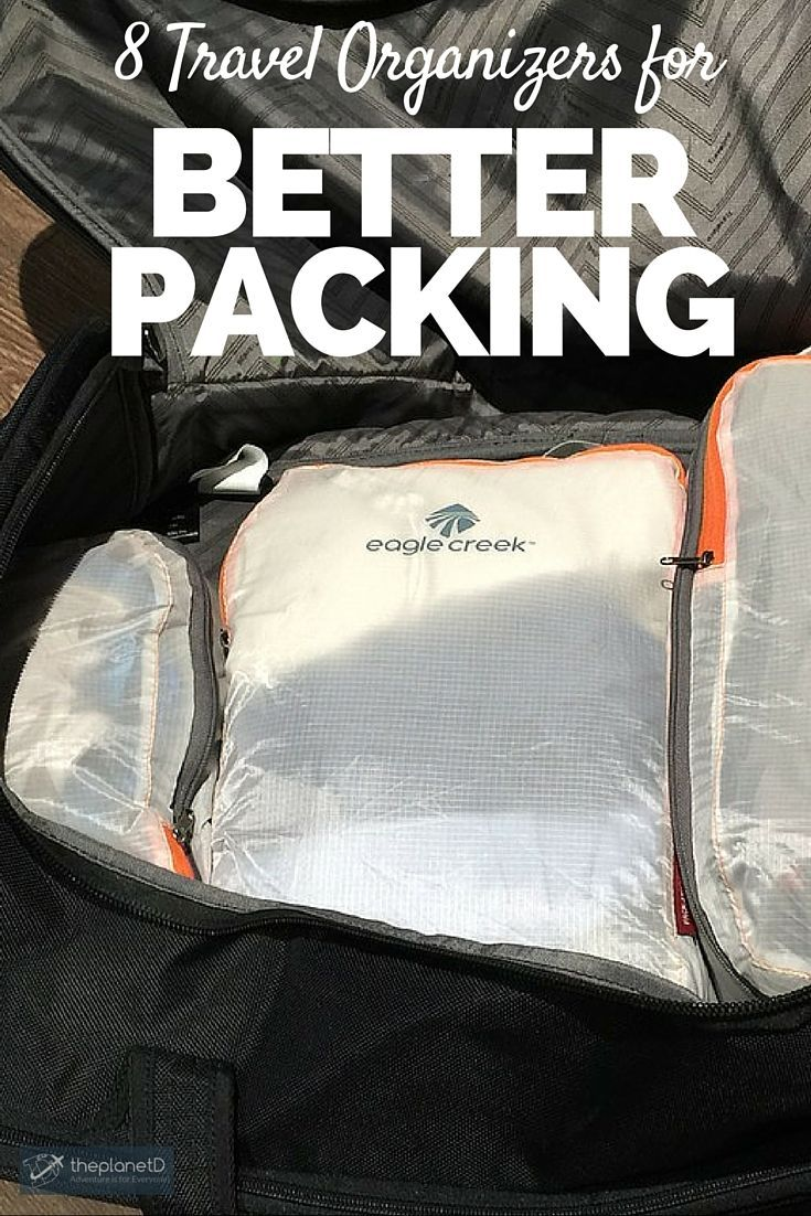 8 Great Travel Organizers for Better Packing   Choose the right travel bag,  Packing Cubes, Toiletry Bag, Memory Card Holders and many more tips! abea926c29