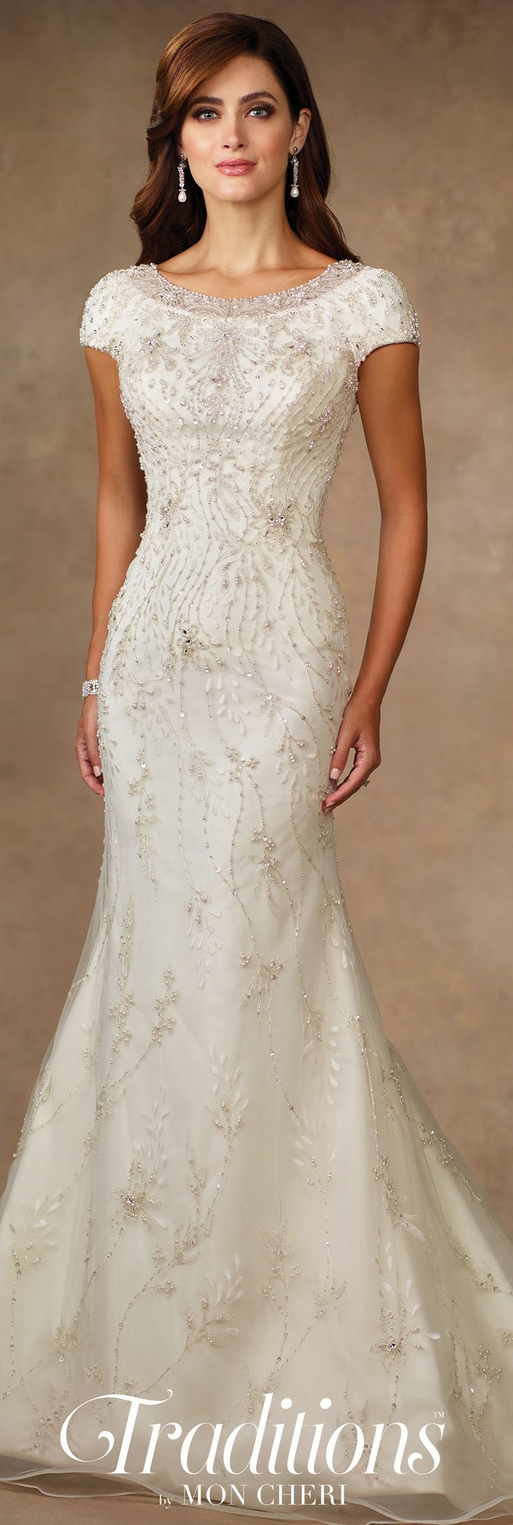 Simple dress for civil wedding  Traditions by Mon Cheri Spring  Wedding Gown Collection  Style