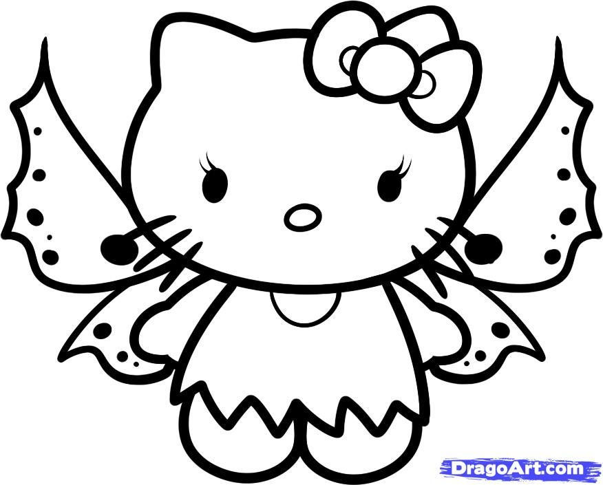 baby hello kitty coloring pages how to draw fairy hello kitty step by step - Kitty Easter Coloring Pages