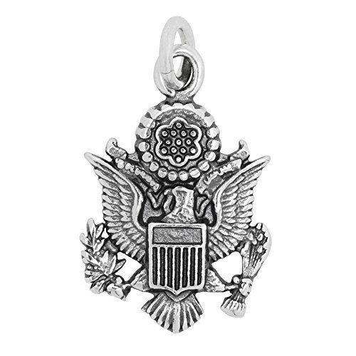 Sterling Silver Official US Seal Charm Approximately 19 x 13 mm -- You can find more details by visiting the image link.Note:It is affiliate link to Amazon.