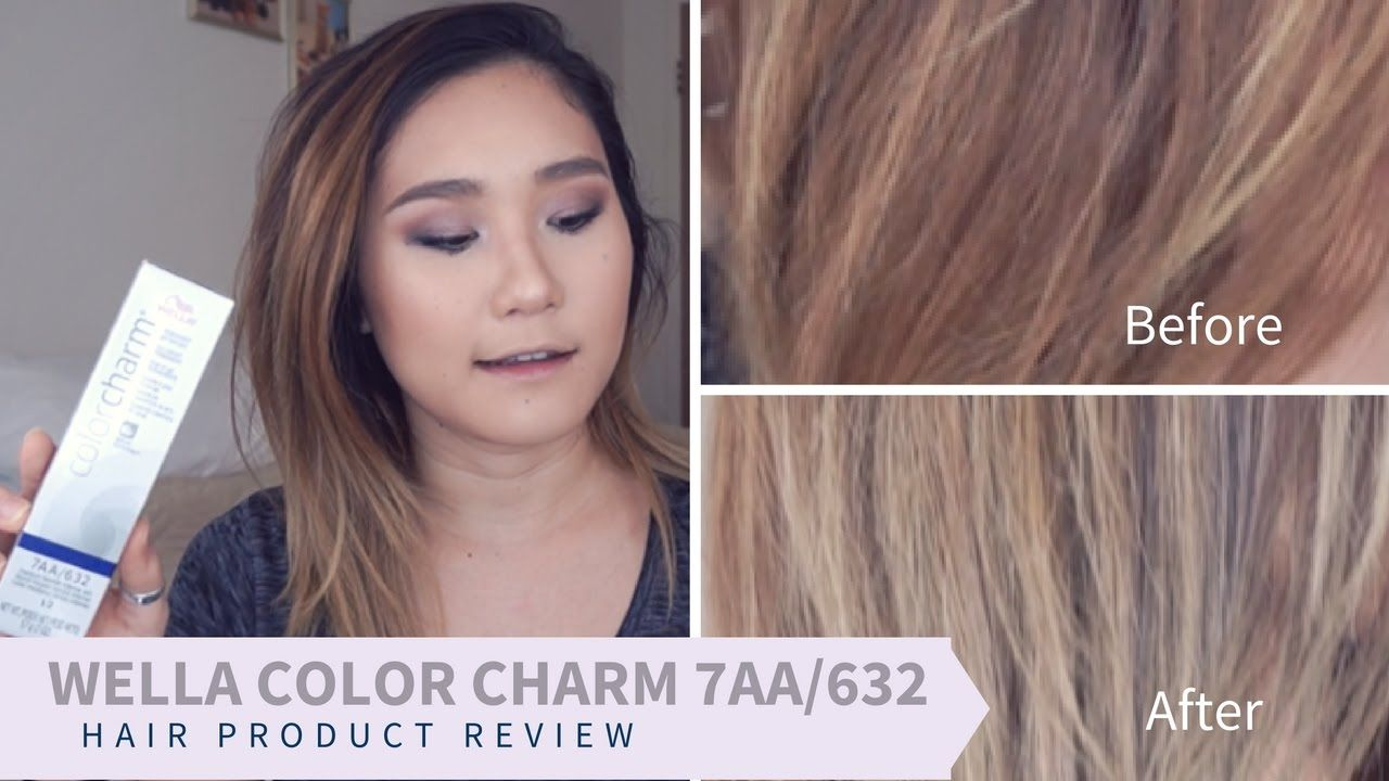 Medium Ash Blonde With Wella Color Charm 7aa 632 Aimee Haruna