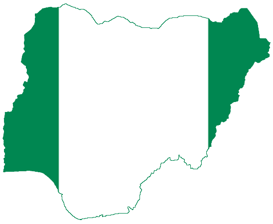 Flag Map Of Nigeria Map Of Nigeria Nigeria Nigerian Flag