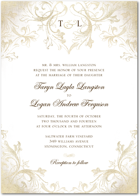Faded Scroll Dijon Wedding Paper Divas Thought This Was Very Elegant Scroll Wedding Invitations Wedding Invitations Wedding Paper Divas