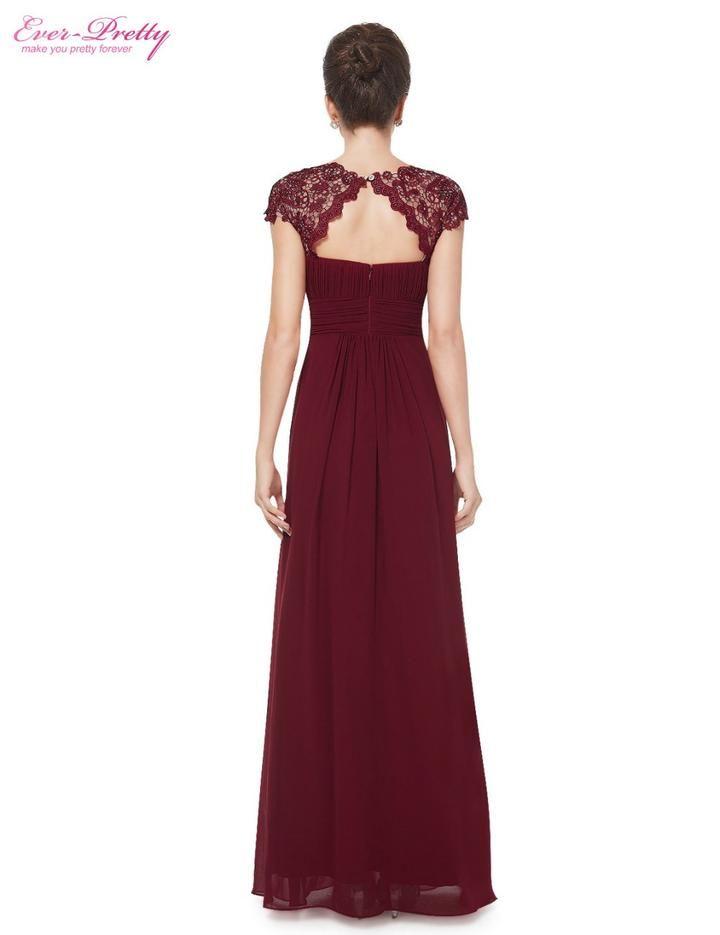 Edles langes Spitze Abendkleid in Bordeaux Rot - bei vipdress.de günstig  shoppen   Kleider   Dresses, Gowns und Prom dresses c114dbde7b