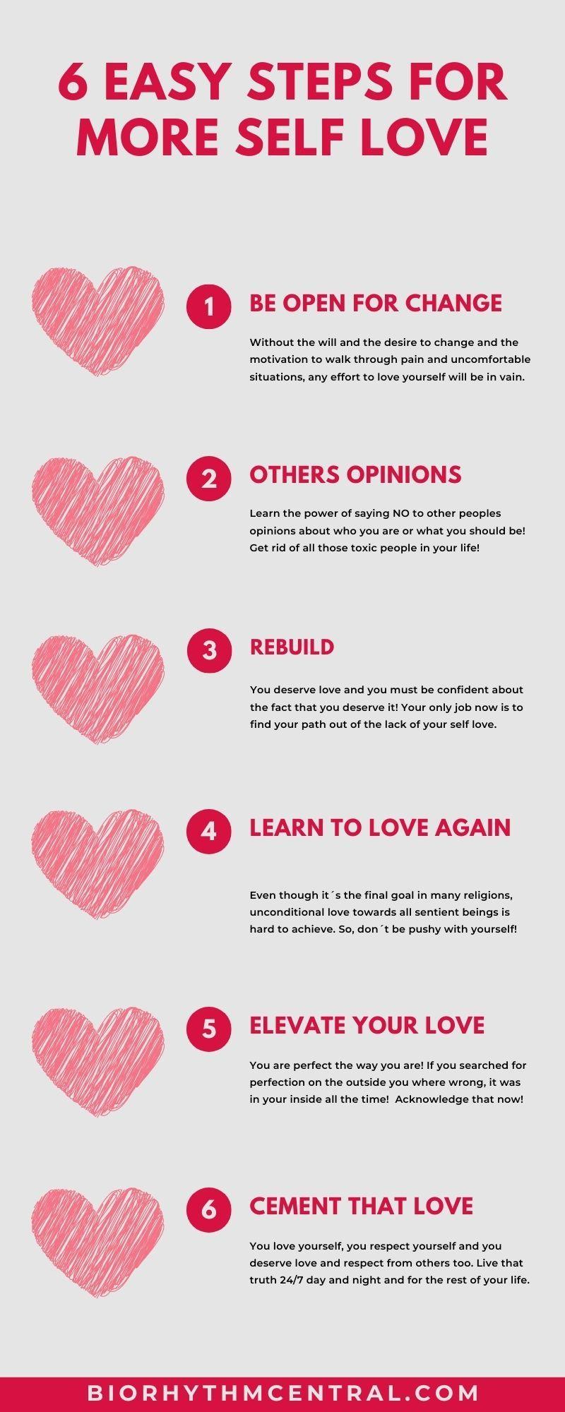 6 easy steps towards self love