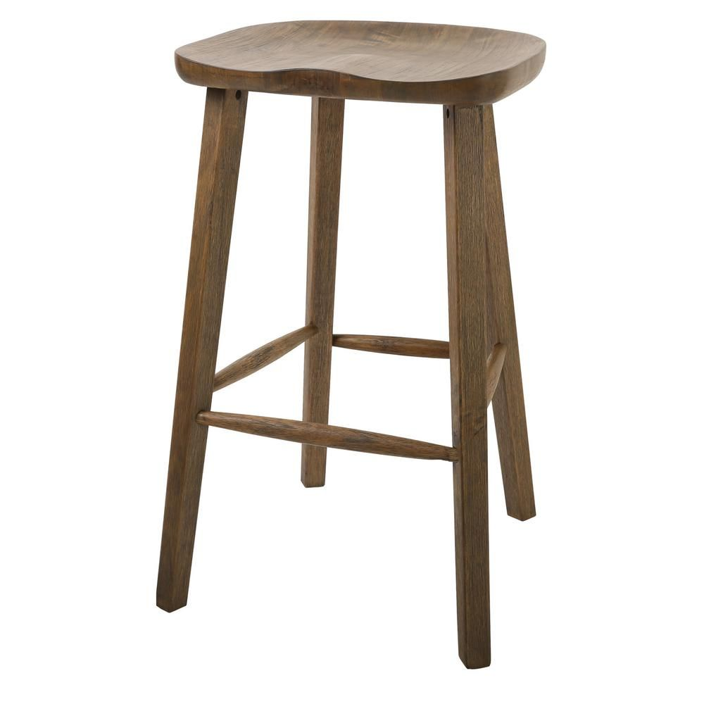 New Ridge Home Goods Tractor Style 31 2 In Vintage Smoke Wire Brush Bar Height Stool Nh101253 Wbs Vs Wood Bar Stools 30 Bar Stools Stool