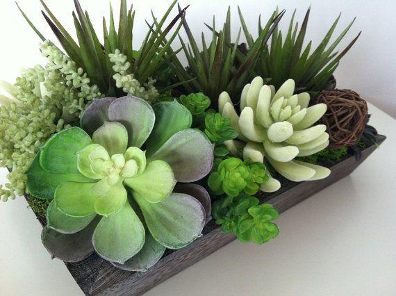 Succulent Planter Succulent Arrangement Green By ArtsFloralDesign
