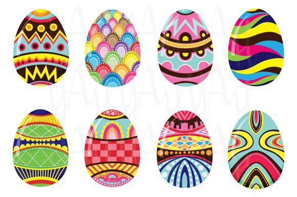 Colorful Easter Egg by YenzArtHaut on Creative Market
