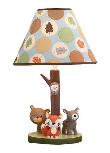 Carters Forest Friends Owls Bears and Fox Neutral Boys or Girls Lamp w Leaves | eBay