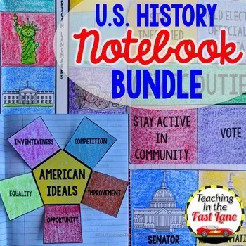Photo of United States History Interactive Notebook Bundle