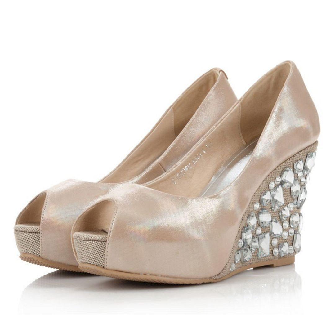 wedding shoes for bride wedges