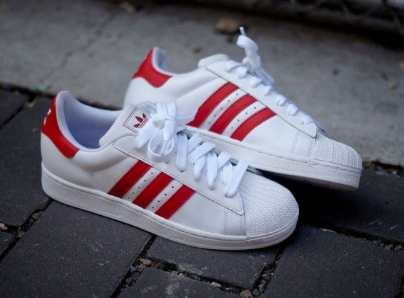 new product f6c74 449ec adidas originals superstar ii white red 570x421 adidas Originals Superstar  II White Red