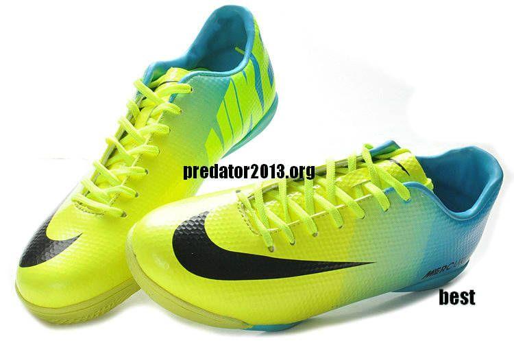 nike mercurial 2013 vapor ix ic indoor soccer shoes yellow blue black yellow womens