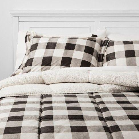 Billie Plaid Mink bedding set, Target Comforter plus two shams
