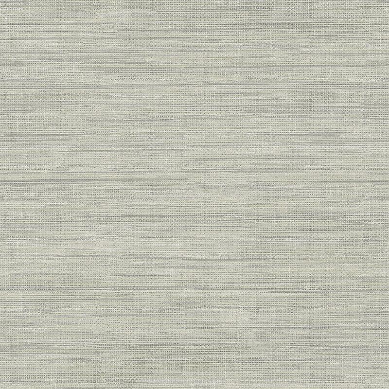 """Essentials 33' x 20.5"""" Island Grey Grasscloth Wallpaper"""