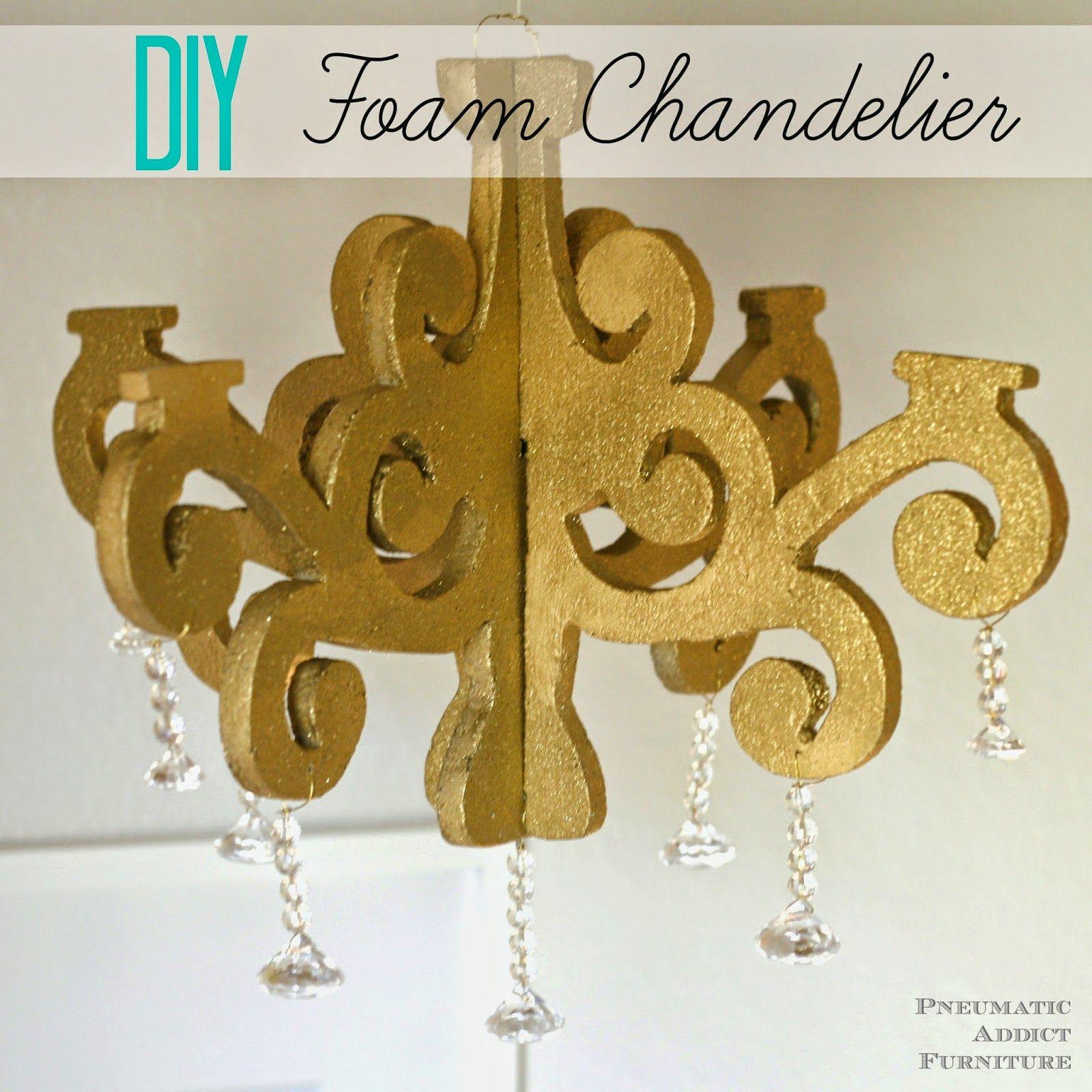 Diy foam chandelier giveaway diy chandelier craft foam and make your own diy chandelier using inexpensive craft foam step by step photo tutorial bildanleitung aloadofball Gallery