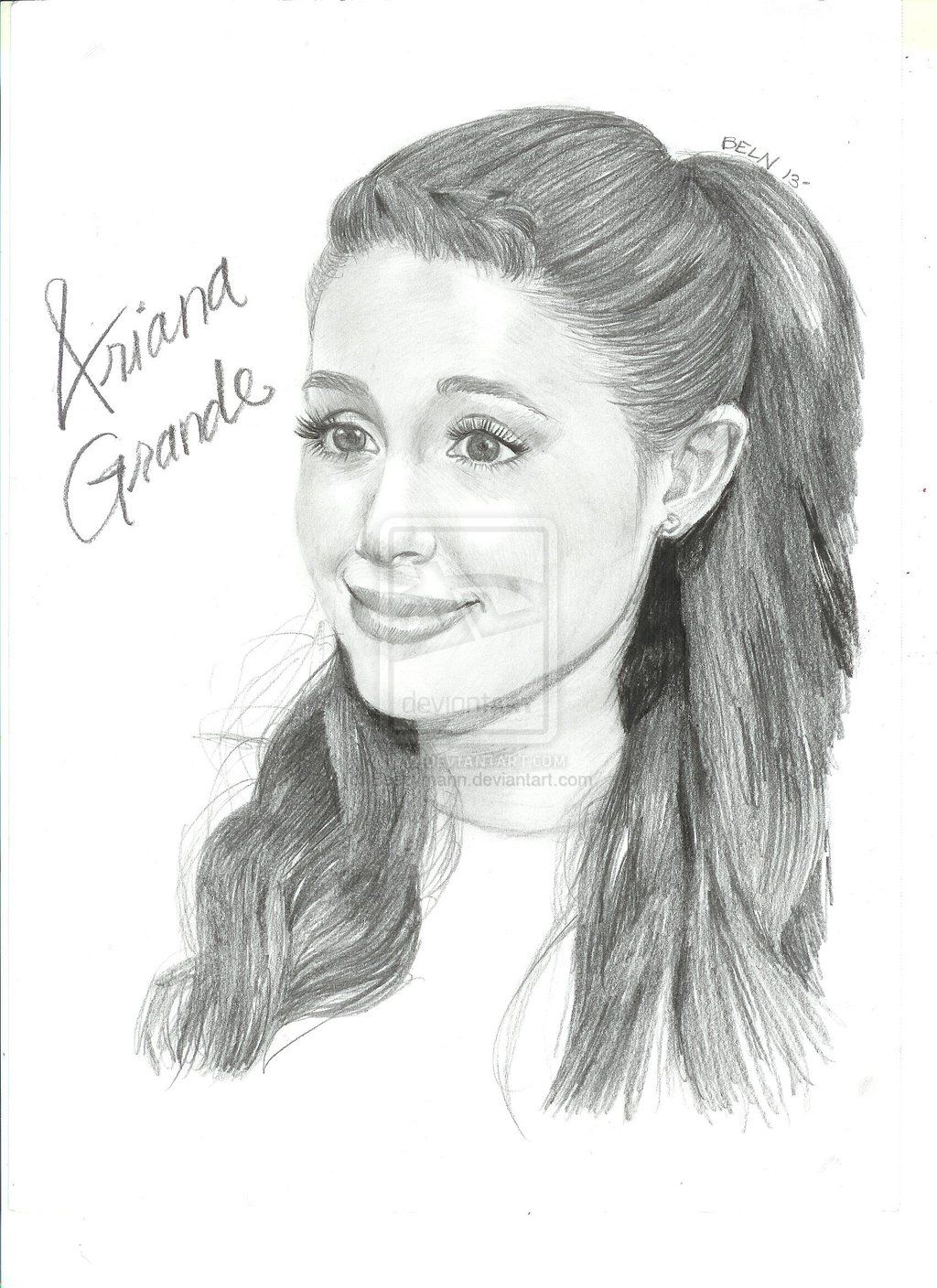 Ariana grande drawing ariana grande by blnart18 traditional art drawings portraits figures