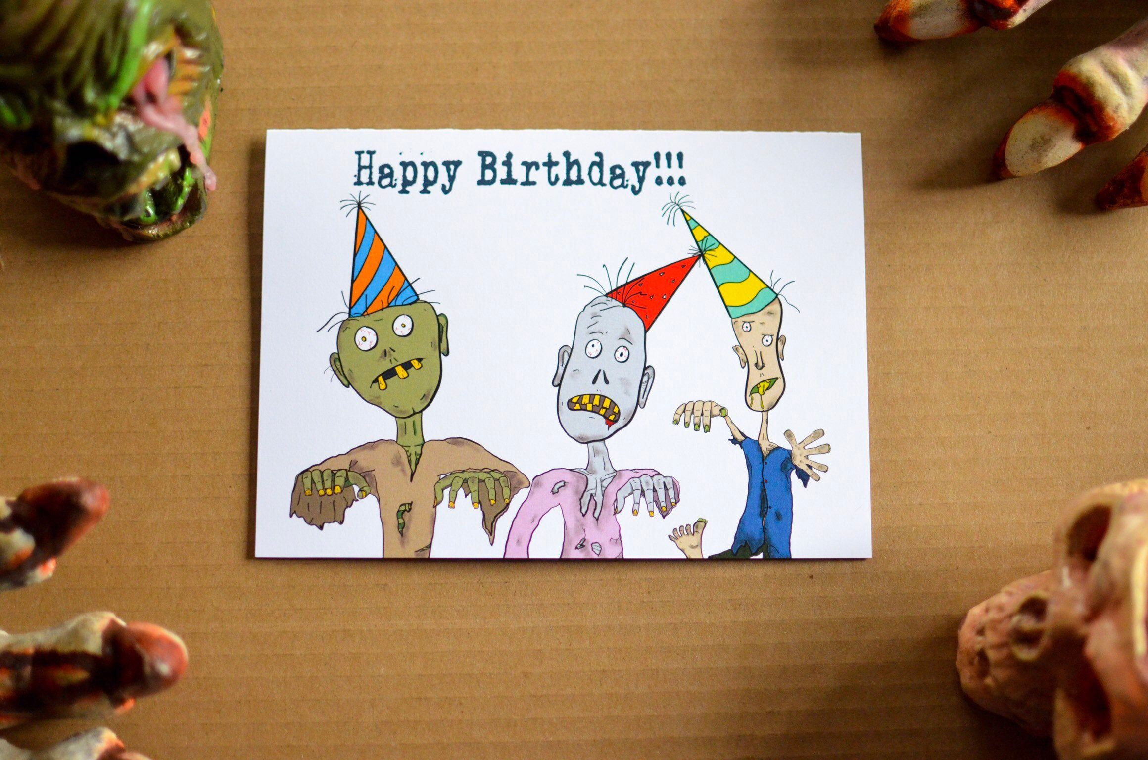 Zombie Birthday Card Funny Birthday Cards Zombie Cards Fun Birthday Cards Pun Birthday Card Boxed Zombie Birthday Funny Birthday Cards Birthday Cards