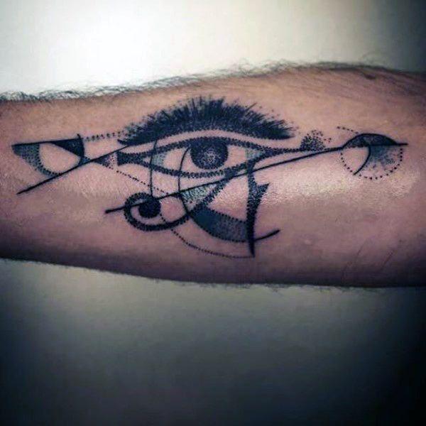 50 Eye Of Horus Tattoo Designs For Men Egyptian Hieroglyph Ink Horus Tattoo Tattoo Designs Men Eye Of Horus