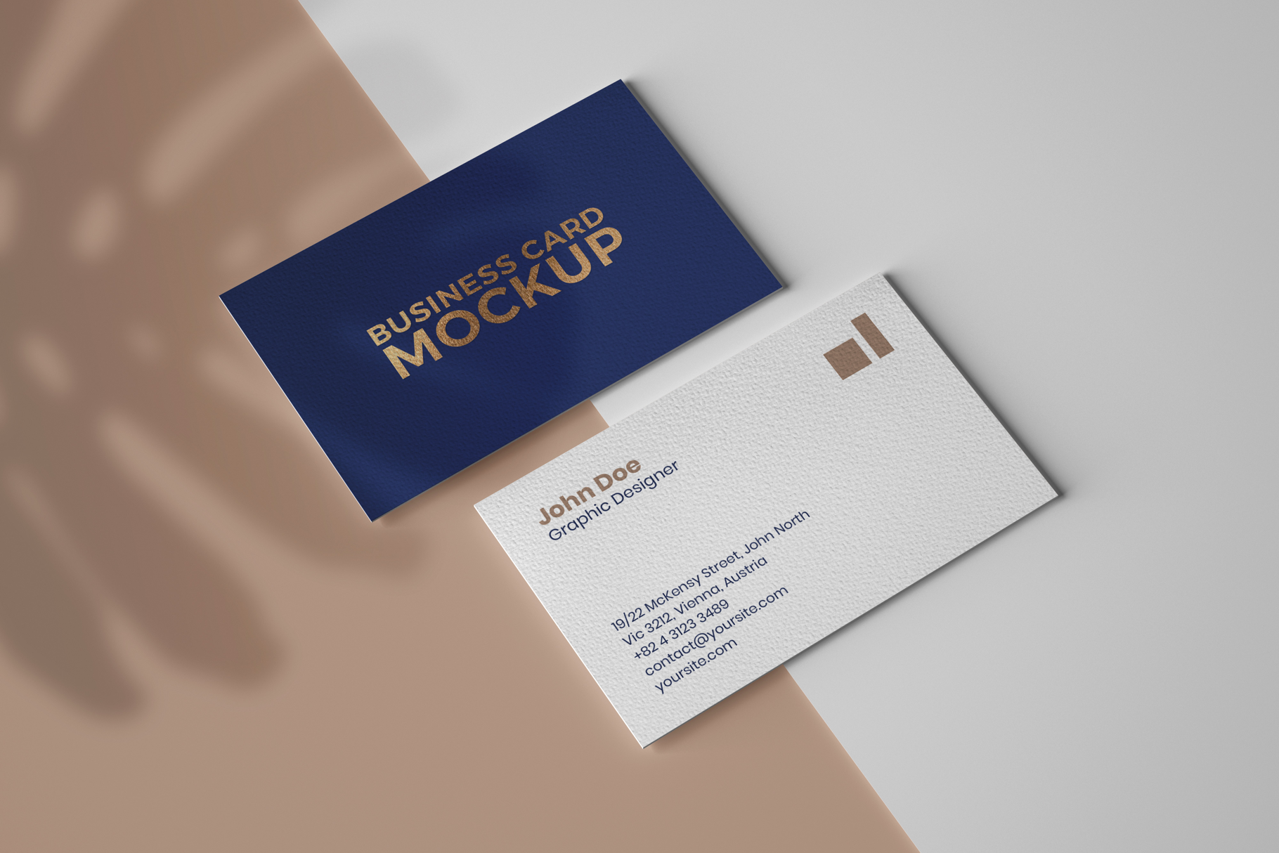 Business Card Mockup Set With Shadow Business Card Mock Up Business Card Dimensions Business Card Displays