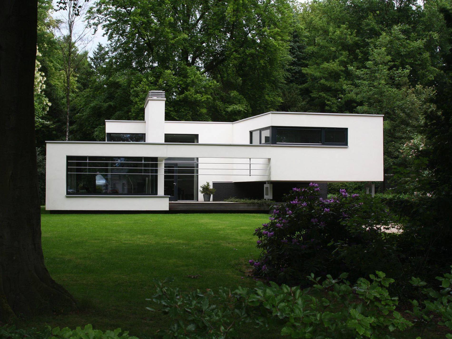 Maas architecten » woonhuis schalkhaar stucwerk modern villa