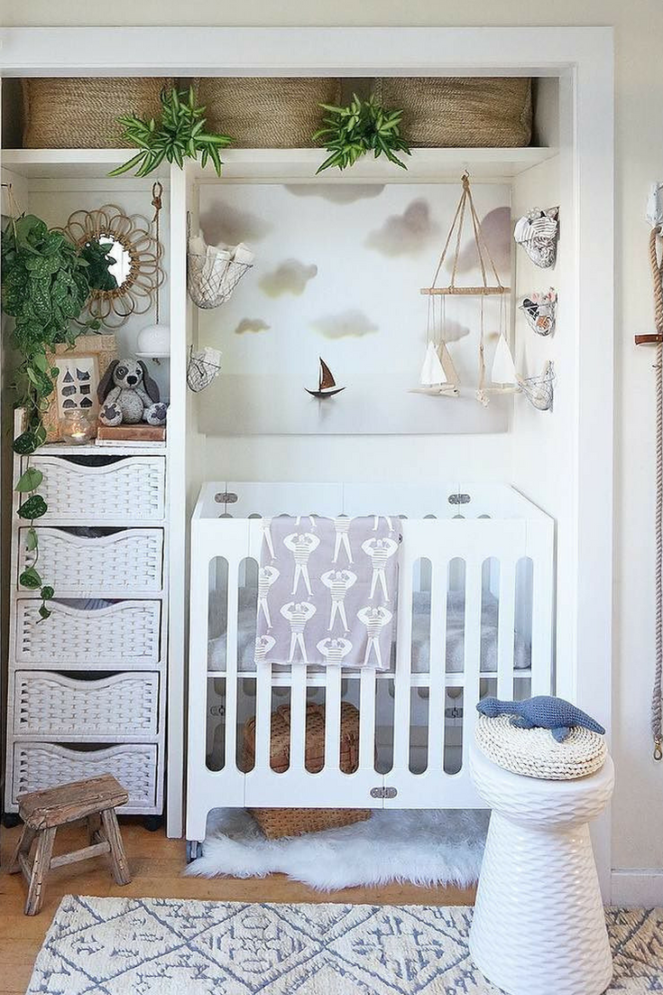Living With A Baby In One Bedroom Apartment Small Nursery Ideas Closet E Storage Crib