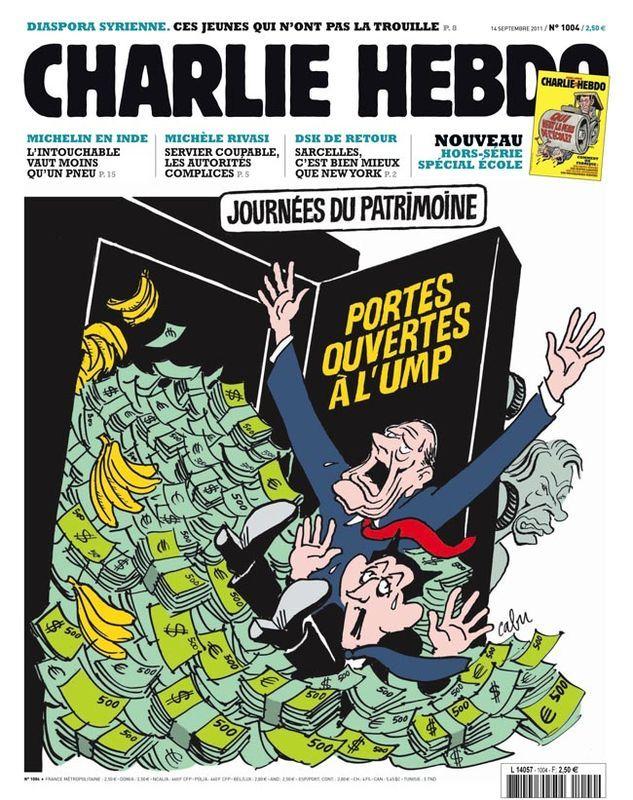 Charlie Hebdo - # 1004 - 14 Septembre 2011 - Couverture : Cabu