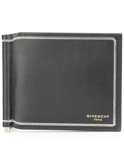 shop givenchy chain trim wallet in umberto giugliano from