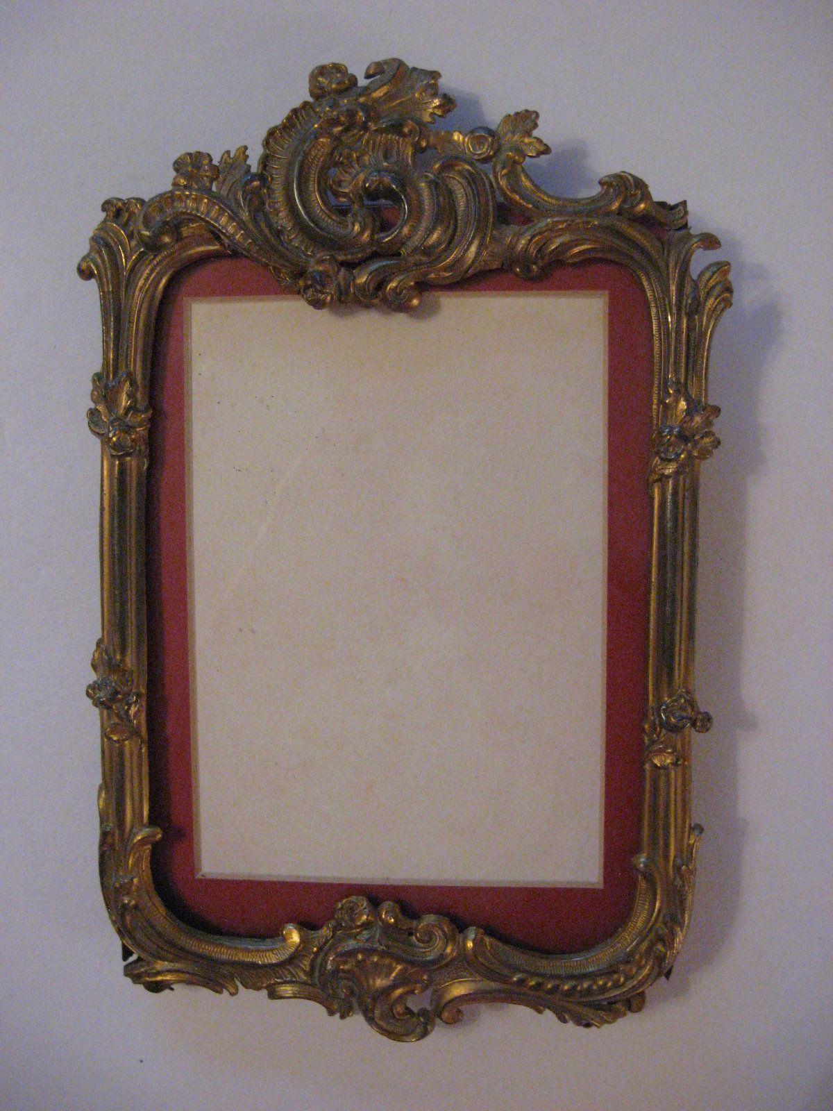 Antique victorian art nouveau picture frame ornate design