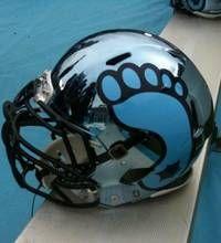 UNC's helmet is basically one big foot